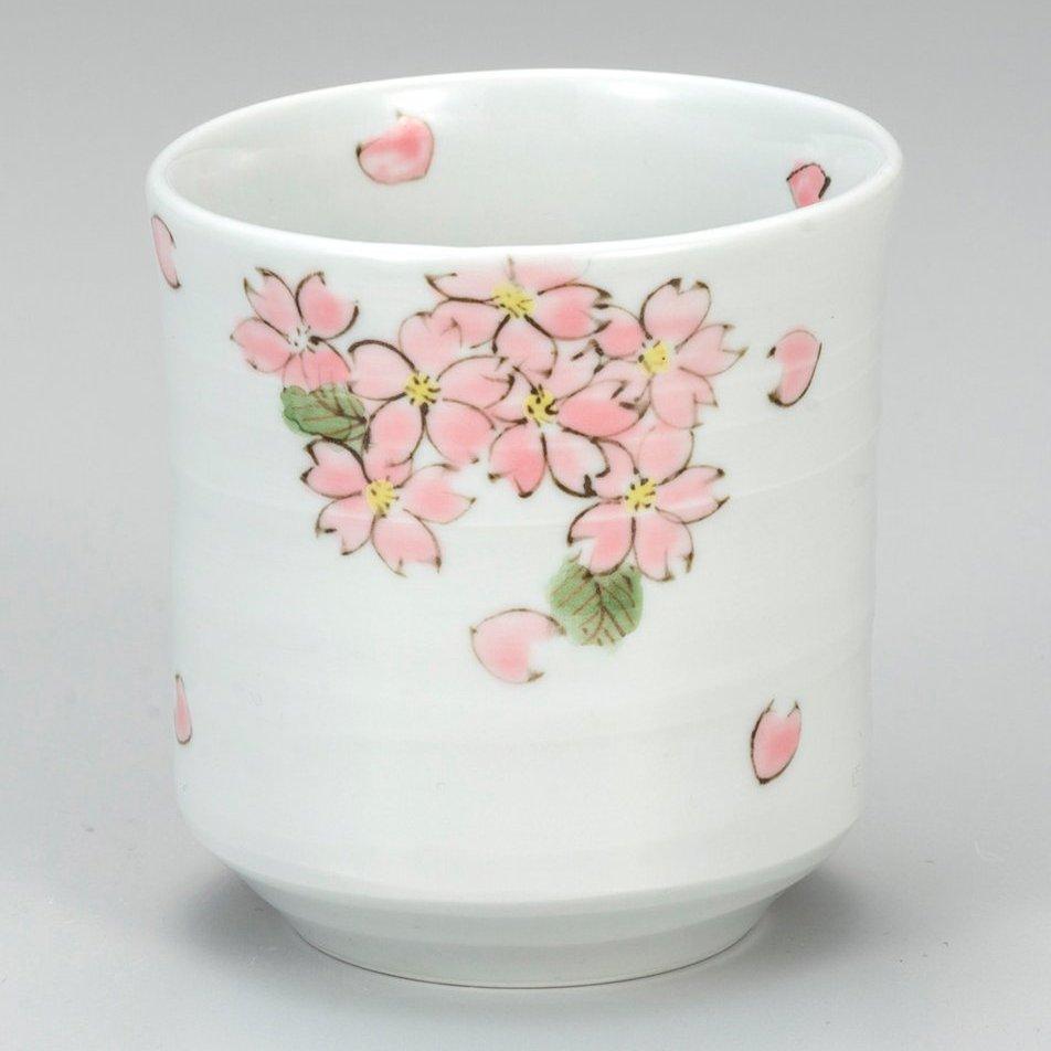 九谷焼ギフト ご贈答品 御祝い 九谷焼湯呑 桜