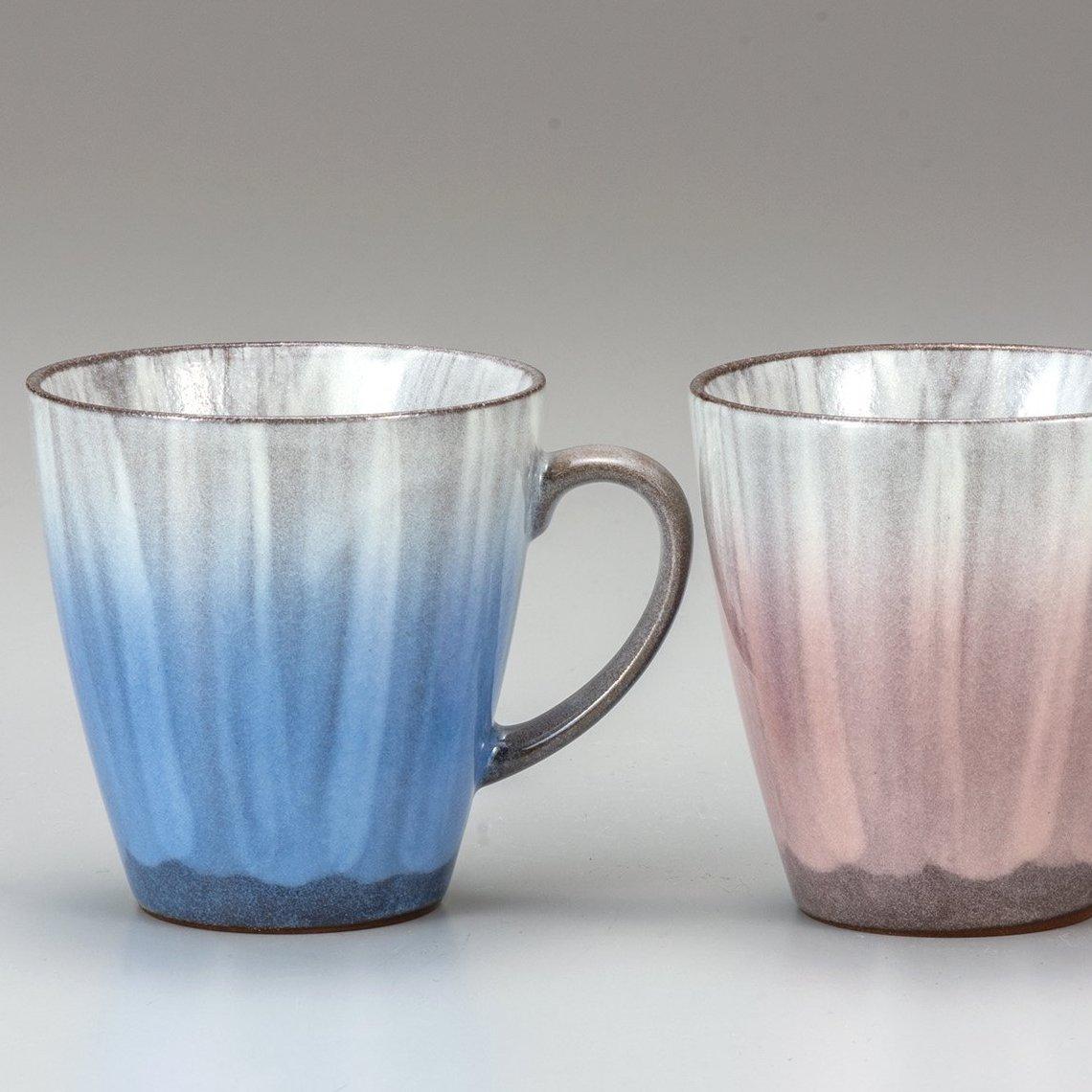 九谷焼ギフト ご贈答品 御祝い 九谷焼ペアマグカップ 釉彩