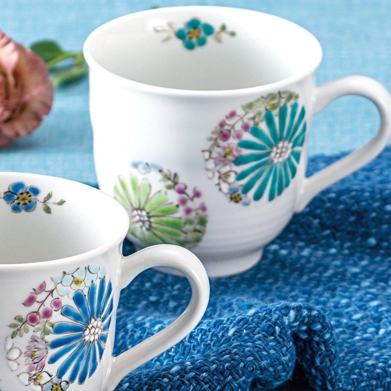 九谷焼ギフト ご贈答品 御祝い 九谷焼ペアマグカップ 華 色絵 遊