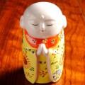 九谷焼4.5号 お地蔵様 黄盛