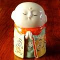 九谷焼3.5号 お地蔵様 割取菊