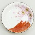 九谷焼ギフト ご贈答品 御祝い 九谷焼豆皿 桜富士