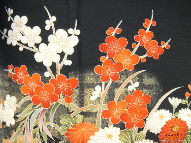 黒留袖レンタル 正絹 貸衣装 結婚式 親着物 高級 格安 おしゃれ 紅白 綺麗 美しい 花 金