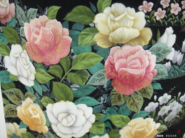 黒留袖レンタル 正絹 貸衣装 結婚式 親着物 高級 格安 おしゃれ 刺繍 綺麗 美しい 花 薔薇