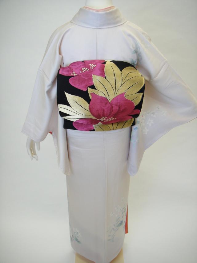 クワシ着物レンタル 薄桜色正絹訪問着