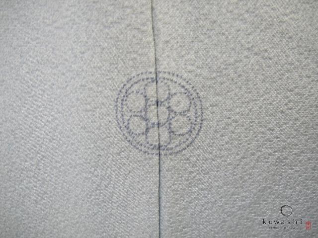 クワシ着物レンタル スカイブルー加賀調正絹訪問着 家紋 丸に七つ星