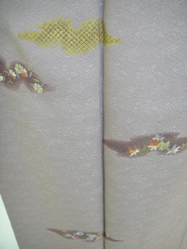 クワシ着物レンタル 紋意匠刺繍正絹付下げ訪問着