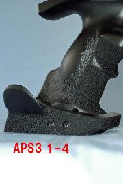 5-032APS3カスタムグリップ/ブラックスチールカラー。