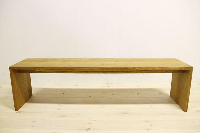 天然木・無垢のベンチ、長イス 凛ホワイトオーク タイプ2