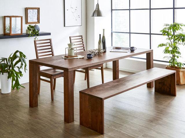 天然木・無垢ウォールナットダイニングテーブル凛
