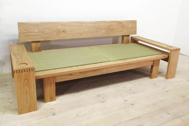 国産クリ材を使用した和風ソファ、たたみソファ 然/ZEN