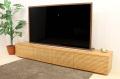 流れ杢が美しい 天然木・無垢材のテレビボード 風雅 ブラックチェリー