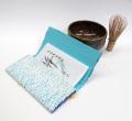 茶道用懐紙バサミ【水色絞り】