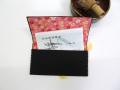 茶道用懐紙バサミ【黒つまみ花】