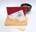 茶道用懐紙バサミ【橙絞り】