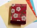 和物カードケース40枚入【桃色桜】