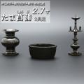 モダン仏具セット たま菖蒲 3具足 黒光色 (家具調仏具)