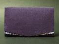 金封ふくさ ちりめん 桜小紋 紫