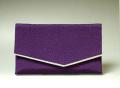 数珠袋 数珠入 ちりめん 紫