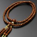 【数珠袋付き】【メール便で送料無料】 数珠・念珠 真言宗 尺二 正梅 男性向き  SM-089