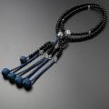 【数珠袋付き】 数珠・念珠 送料無料!日蓮宗 尺二 黒檀 水晶仕立て 男性向き  SM-090