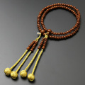 【数珠袋付き】【メール便で送料無料】 数珠 念珠真言宗 八寸 正梅 女性向き  SW-112
