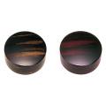 切立香合 木質性 黒檀色・紫檀色 2.8寸