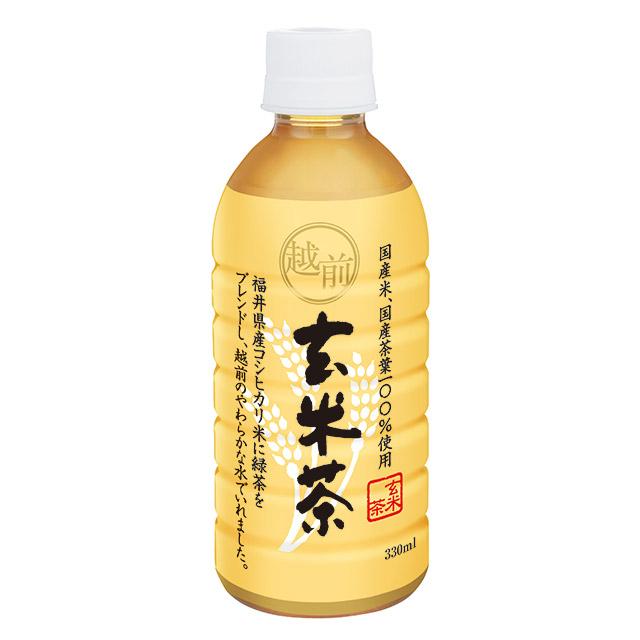 越前玄米茶330ml