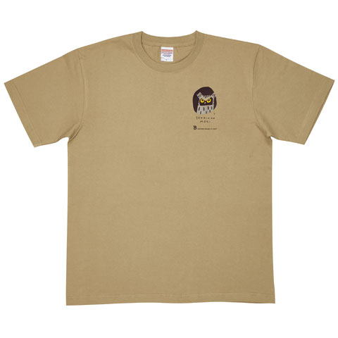 日本野鳥の会 寄付つきTシャツ 千人の森2016 サンドカーキ(男女兼用)/Sサイズのみ