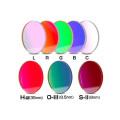 バーダー LRGBCフィルター + Hα 35nm + O-3 8.5nm + S-II 8nmフィルター 8点セット(セルなし/φ50.4・φ50.8mm径)[2459563]