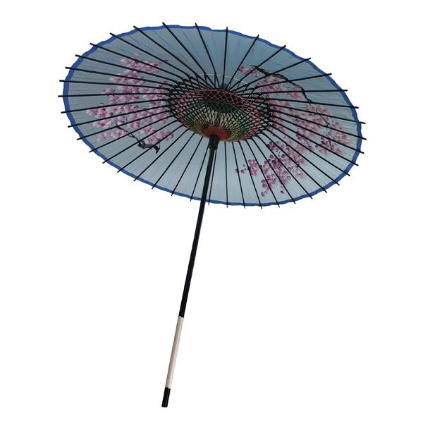 絹傘 桜絵 水色