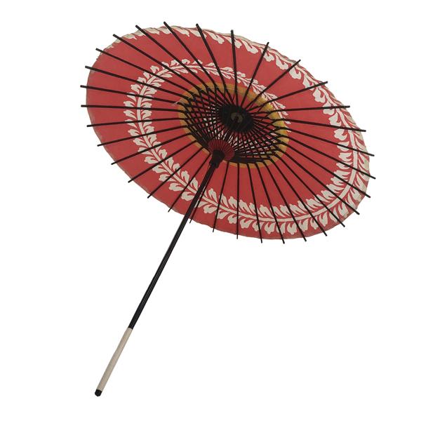 こども用和傘 藤渦 朱色