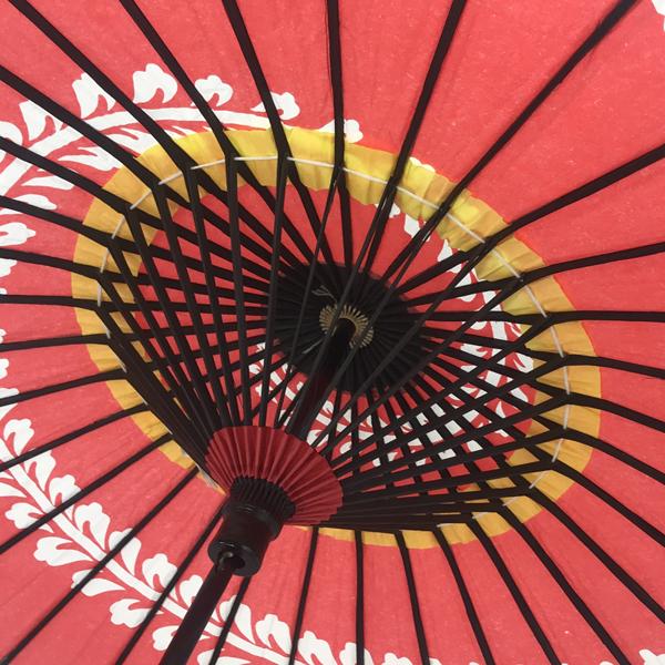こども用和傘 桜渦 朱色