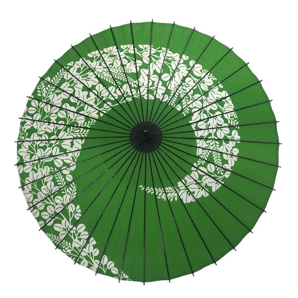紙傘 尺5 萩渦 若草