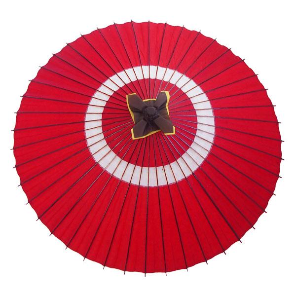蛇の目傘 蛇の目柄 赤