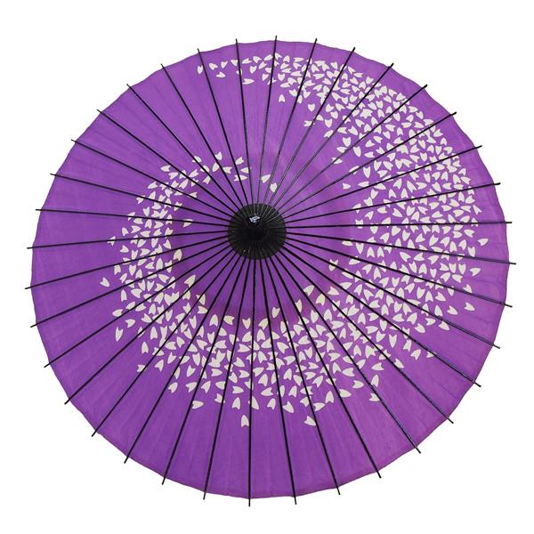 紙傘 尺5 桜渦 紫 特選