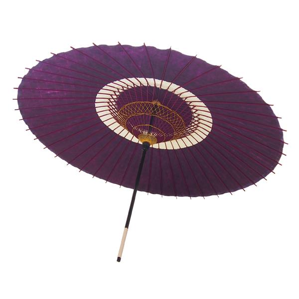 蛇の目傘 蛇の目柄 紫 /和傘・野点傘専門店 恭雅