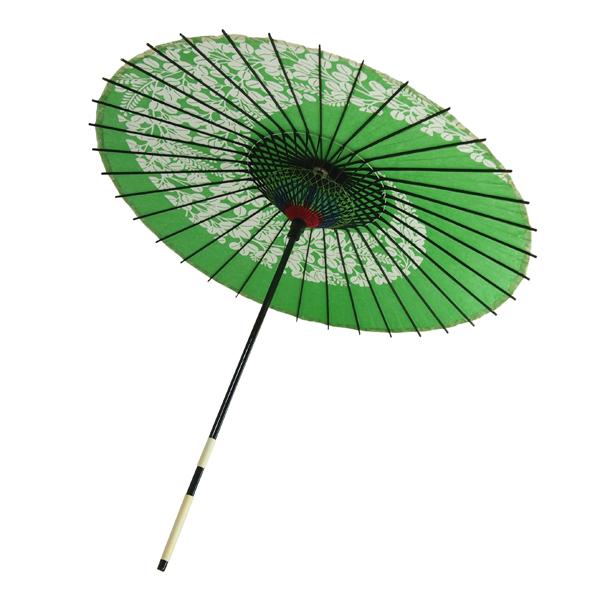 紙傘 尺5 萩渦 緑