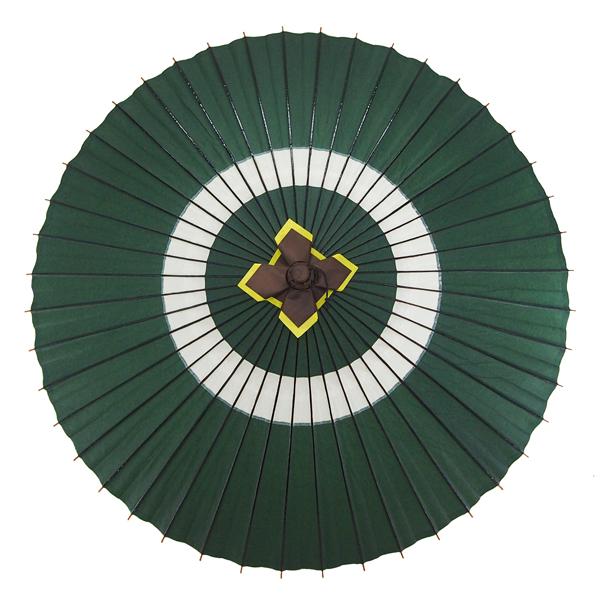 蛇の目傘 蛇の目柄 深緑
