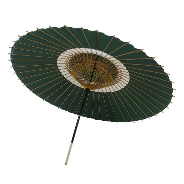 蛇の目傘 蛇の目柄 深緑 /和傘・野点傘専門店 恭雅