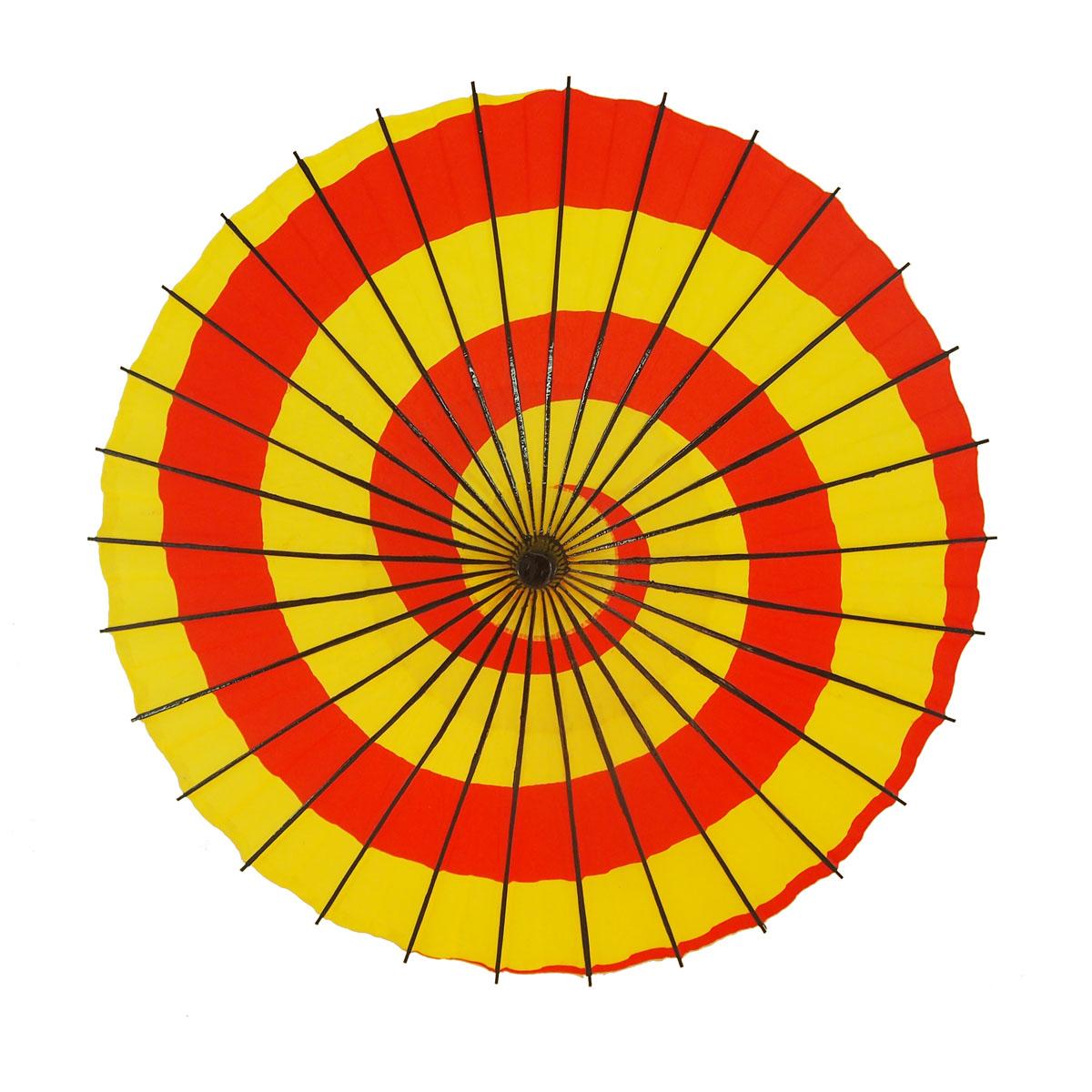紙傘 こども用和傘 特注 黄赤渦