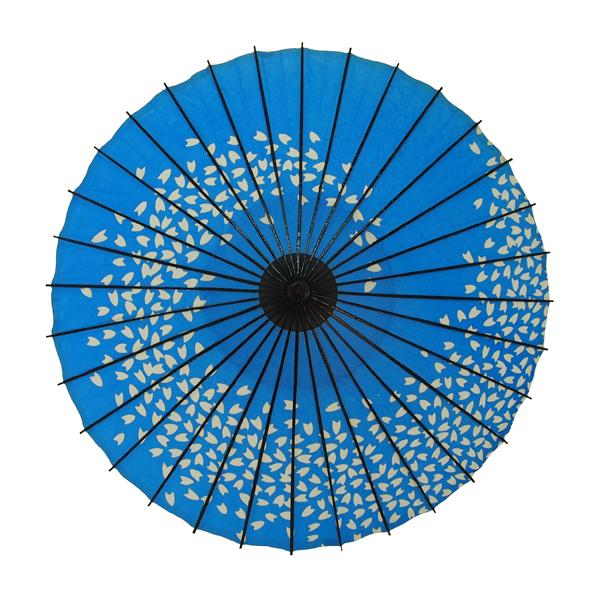 子ども用和傘 桜渦 青
