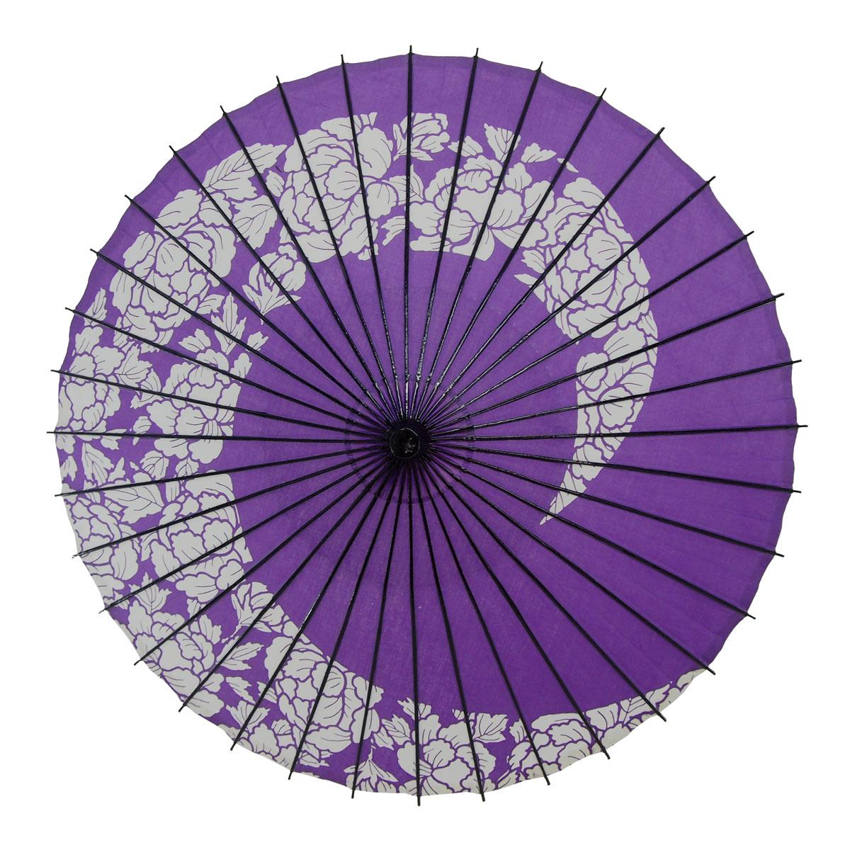 布傘 牡丹渦 紫