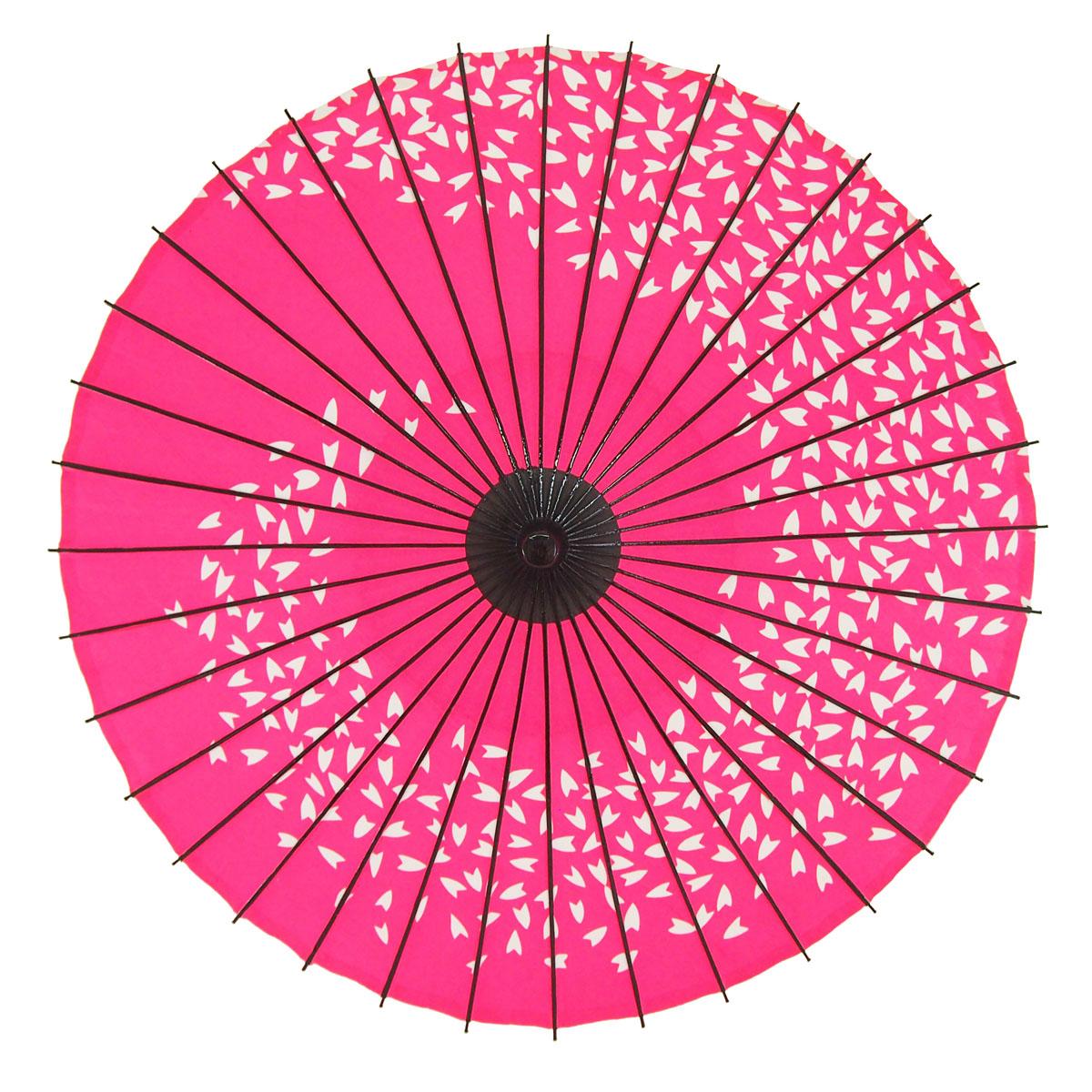 布傘 桜渦 ピンク