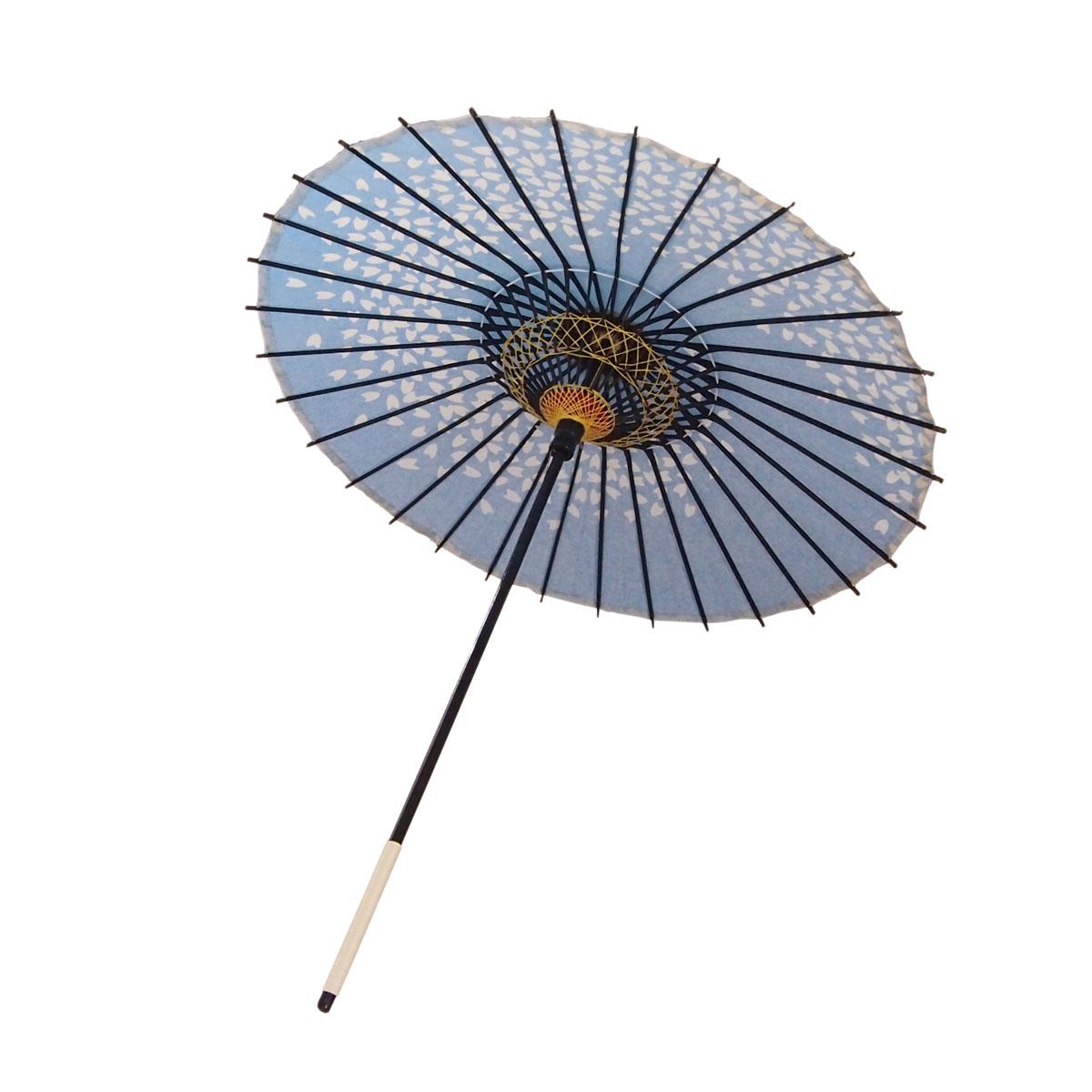 こども用和傘 桜渦 青