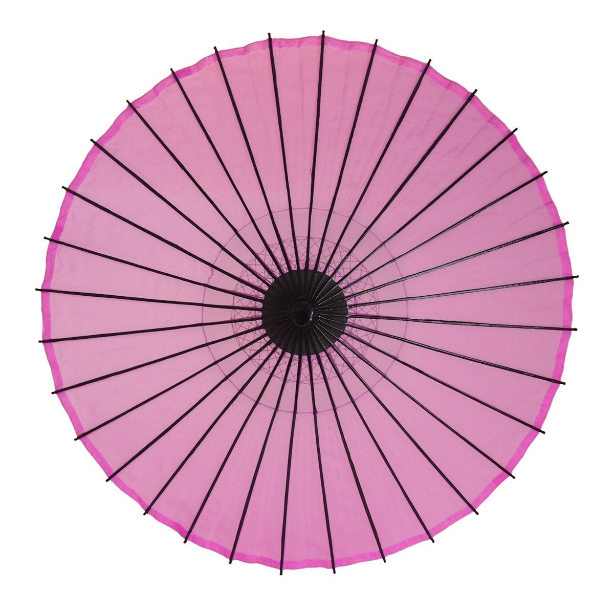 絹傘 無地 ピンク 1.2