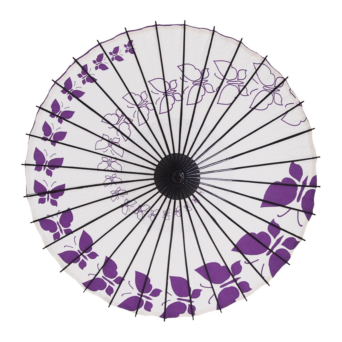 こども傘 蝶々 紫