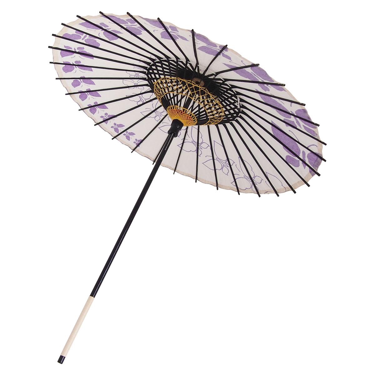 こども用和傘 蝶々 紫