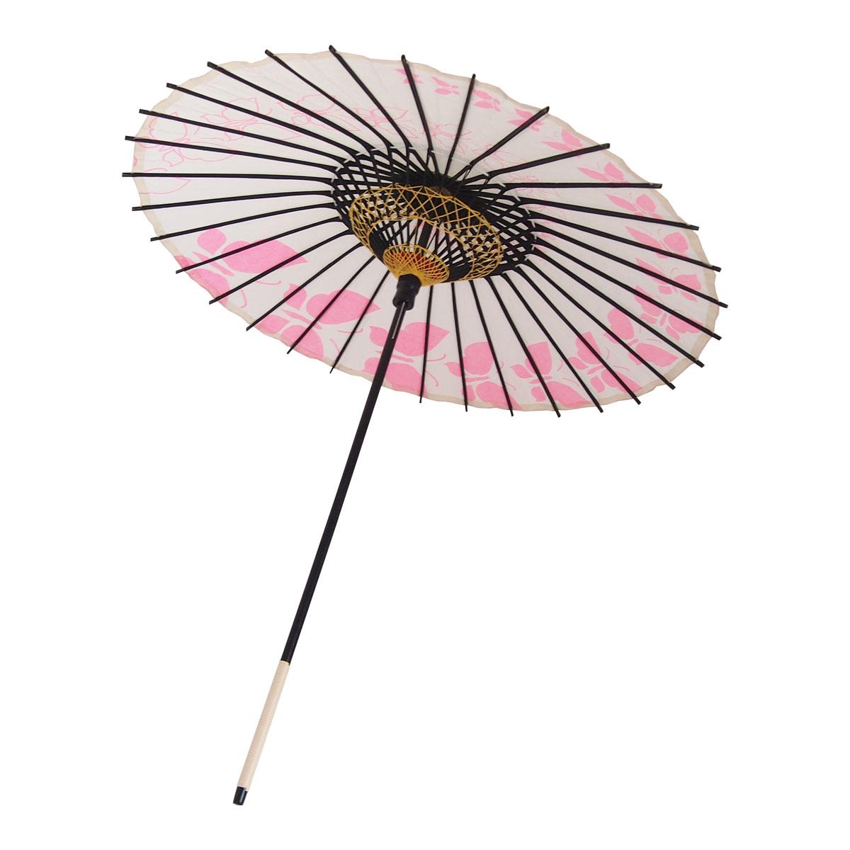 こども用和傘 蝶々 ピンク