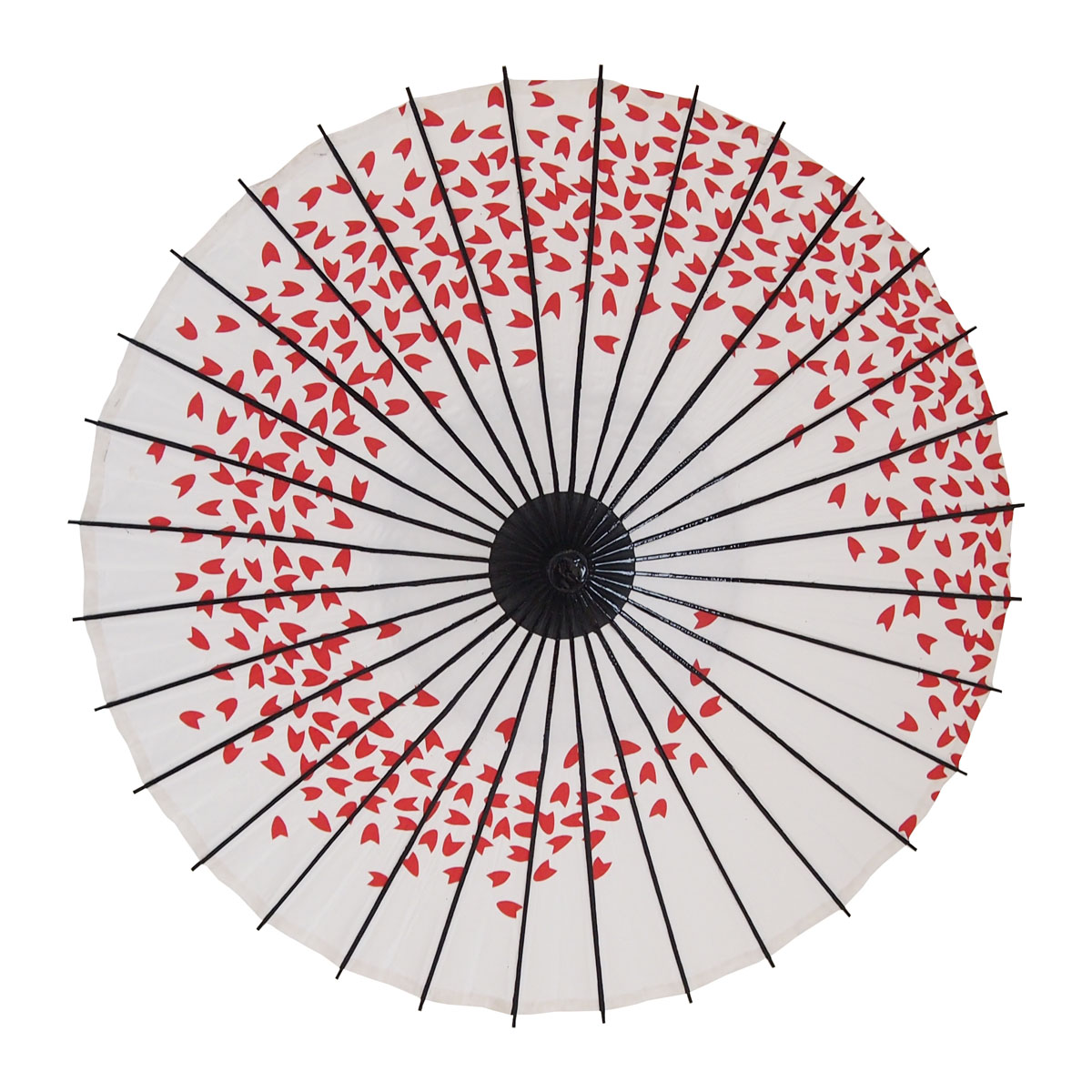 こども傘 桜渦 朱赤